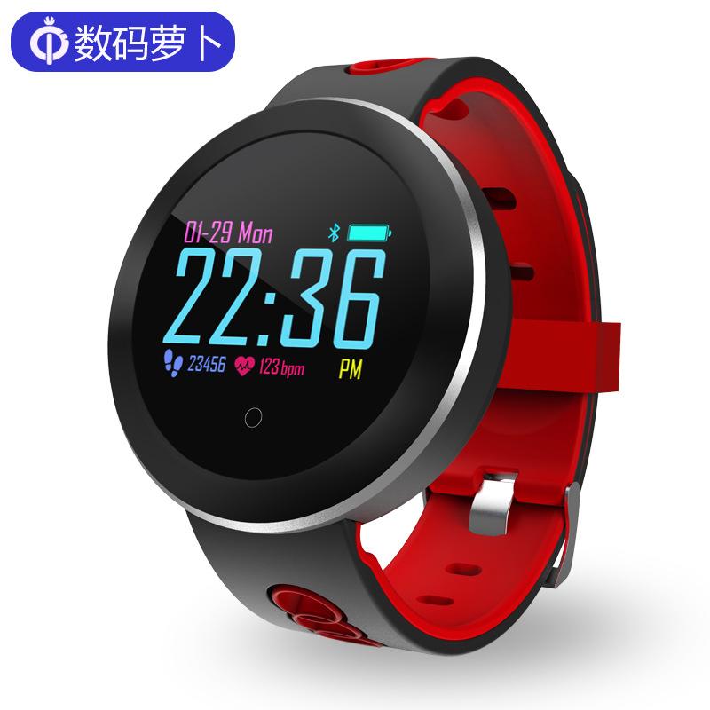 Q8pro彩屏智能手环 IP68防水计步心率血压多运动模式支持信息推送