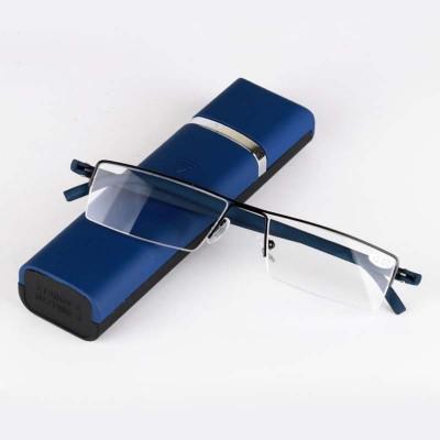 2018新款高档不锈钢TR90男女老花镜老人眼镜半框高清镜片送眼镜盒