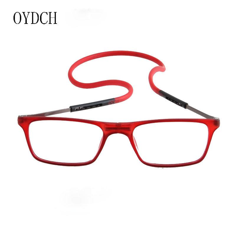 厂家热销便携式老花镜折叠时尚舒适挂脖老花眼镜 磁铁老人阅读镜