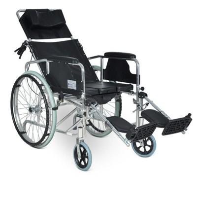 轮椅铝合金老人残疾人折叠带坐便便携多功能老年人代步车手推车