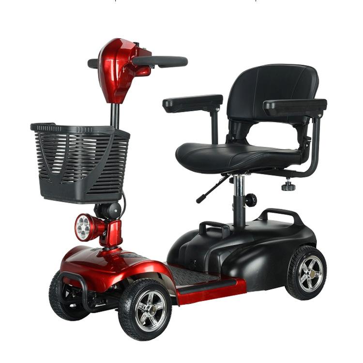 老人代步车电动四轮车电瓶车折叠残疾人四轮电动车代步成人轮椅
