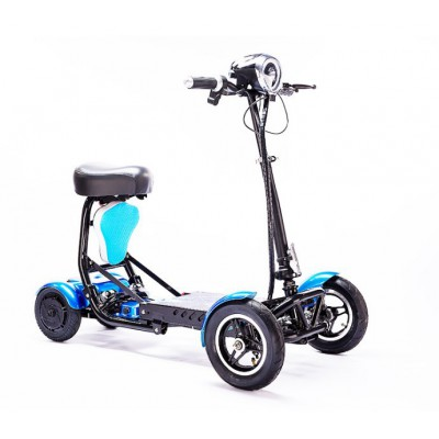 锂电折叠老年代步车双驱动四轮电动车滑板车小孩接送车男女自