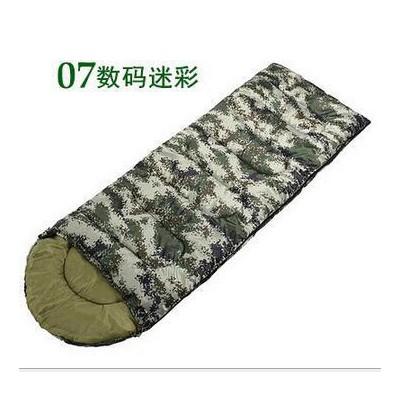 跨境货源成人睡袋户外野营春夏秋冬露营保暖睡袋信封式迷彩棉睡袋