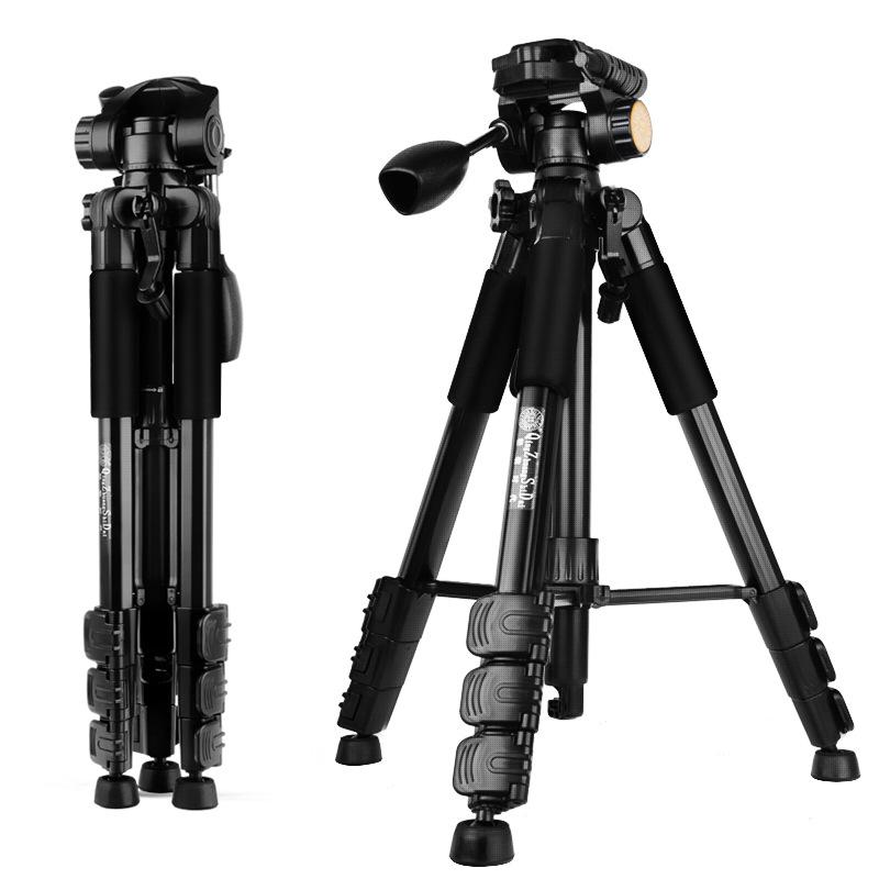 轻装时代Q111单反相机三脚架DV摄影摄像直播旅行户外三角架tripod