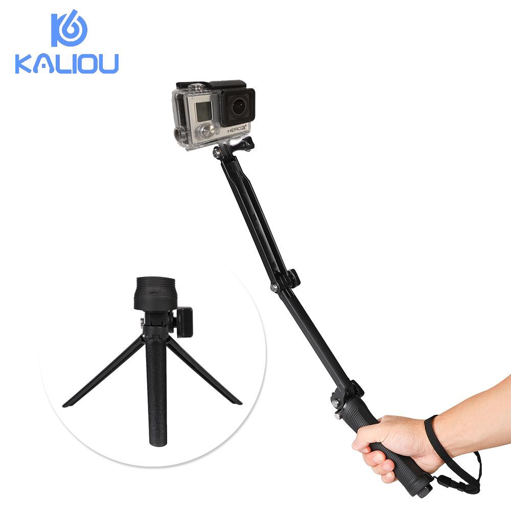 GoPro三折自拍杆 适用大疆Osmo Action相机三向自拍杆三脚支架